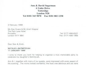 Testimonial 1999-Sugarmann
