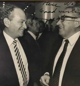 Meir Wagner and Henry Kissinger